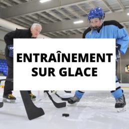 Entrainement sur glace Groupe de Hockey Atlantique